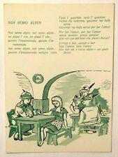 Cartolina Alpini - Noi Semo Alpin (Verde)
