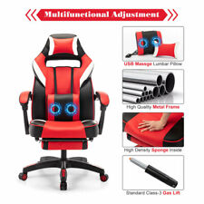 Racing Gaming Chair Ergonomic Computer Recliner Office Desk Seat With Footrest