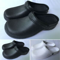 Womens Slip On Slippers Solid Chef Clogs Waterproof Non Slip Sandals Work Shoes