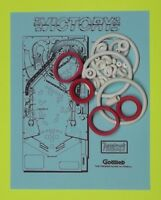 1987 Gottlieb / Premier Victory pinball rubber ring kit
