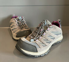 Columbia Womens Crestwood Hiking Shoes Gray BL5372-053 Waterproof Leather 11