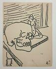 Tete De Mort Krol Vers 1950 Dessin A Lencre