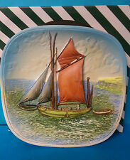 Tuna Boat Legend Connoisseur Series 3D Chalkware Wall Plaque