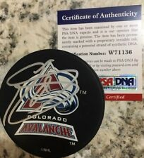 SIGNED PUCK COLORADO AVALANCHE JOE SAKIC QUEBEC NORDIQUES JSA PSA/DNA