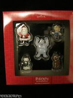 HALLMARK RUDOLPH THE RED-NOSED REINDEER 5 PC. ORNAMENT SET~HERMIE~BUMBLE~NIP