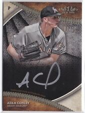 2017 Topps Tier One Adam Conley Break Out Auto Silver Ink #09/10 Marlins