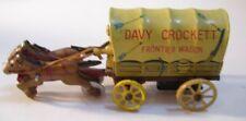 Vintage Davy Crockett Metal Tin Litho Frontier Wagon w/Horses