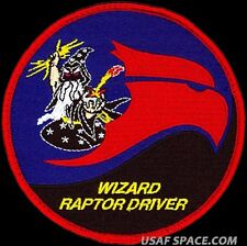 USAF 411th FLIGHT TEST SQUADRON - WIZARD RAPTOR DRIVER -ORIGINAL AIR FORCE PATCH