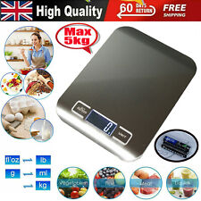 5kg Digital LCD Electronic Kitchen Cooking Food Weighing Scales With 2 Batteries