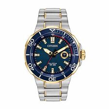 Citizen Eco-Drive Men's AW1424-54L Endeavor Blue Dial Two-Tone 45mm Watch