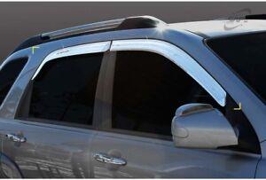 SAFE Chrome weather shields Visor for 03/2005 ~ 05/2010 KIA Sportage