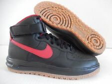 NIKE AIR FORCE 1 HIGH DUCKBOOT ID BLACK-RED SZ 8 [808787-993]