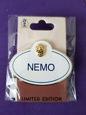 Pixar Finding Nemo Disney 15th Anniversary Name Tag Cast Member Pin LE 250