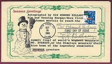 Edmund Hillary, First to Climb Everest, Signed FDC, COA, UACC RD 036