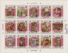 YEMEN (Royalist/MKY) – 1969 Masterpieces of Life of Christ  MNH-VF sheetlet #2