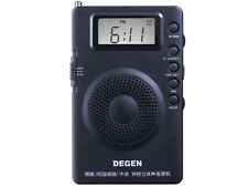 DEGEN DE215 Portable pocket  AM/FM Stereo Radio with Digital Tuning & DSP