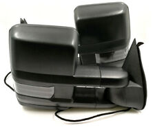 For 07-13 Silverado Sierra Black Tow Mirror Power+Heated+LED Signal+Backup lamp