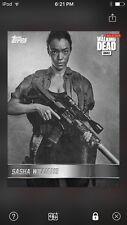 Topps The Walking Dead Digital Card Gray Sasha Williams B & W Portraits Insert