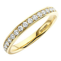 0.25CT Round Brilliant Cut Diamonds Half Eternity Wedding Ring in 9K Yellow Gold