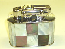 KW (KARL WIEDEN) SEMI-AUTOMATIC LIGHTER W. MOTHER OF PEARL COAT - 1930 - GERMANY