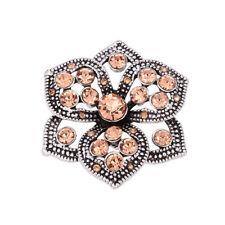 Hot 3D Crystal Chunk Charm Snap Button Fit For Noosa Necklace//Bracelet NSKZ224