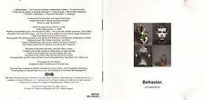 CD 10T PET SHOP BOYS BEHAVIOR DE 1990 PRESSAGE USA