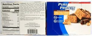 2 Boxes Pure Protein 10.58 Oz Peanut Butter Cup 20g 6 Count Bars BB 11-3-21