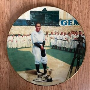 """Lou Gehrig: The Luckiest Man - 8"""" Delphi Plate with COA Plate #4197E"""