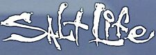 "Salt Life Signature ""WHITE""  UV Rated Vinyl medium 12inch DECAL *FREE SHIPPING*"