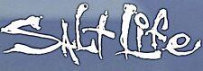 "Salt Life Signature ""WHITE""  UV Rated Vinyl medium 12inch DECAL *FREE SHIPPING*"