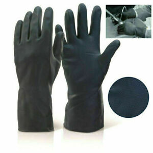 INDUSTRIAL SAFETY WORK GLOVES ANTI OIL/CHEMICAL HEAVY DUTY RUBBER GLOVES LONG