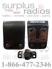 Kenwood OEM KBH-8DS Swivel Leather Belt Loop NX411 NX410 TK5310 TK5210 TK5410
