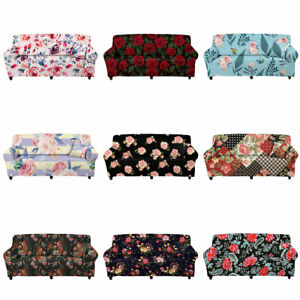 Floral Rose Seater Couch Covers Slipcover Protector Stretch Elastic for Womens