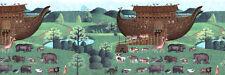 KIDS Noah's Ark ANIMALS Wallpaper Border HV7243B