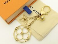 Louis Vuitton Authentic Metal Gold Bag Charm Bloomy Key Chain Auth LV