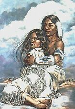 NATIVE INDIAN - FOREVER IN LOVE - COUNTED CROSS STITCH CHART