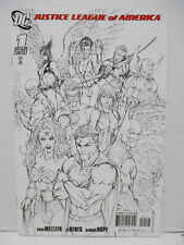 2007 DC- Justice League of America #1 / Michael Turner Black & White Variant