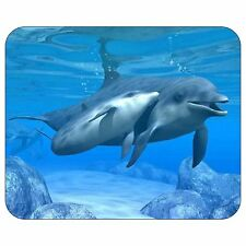 Dolphins Swimming Underwater Mousepad Mouse Pad Mat