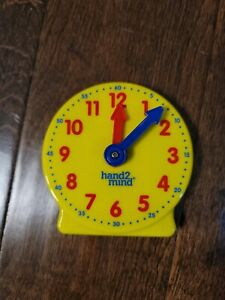 New Kids HAND2MIND Yellow Learning Geared Clock Size 4""