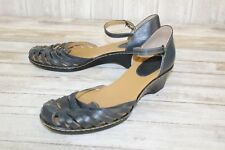 **Softspots Tatiana Strappy Sandals-Womens Size 12M-Charcoal(Repair)