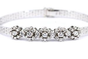 1,46 ct. Diamant Gold Armband 750 Weißgold 18K Statement 41 Brillanten 19cm