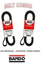 2003-2006 FX35 G35 V6 3.5L OEM Bando Serpentin Belt 2Pcs Drive Kit A/C + PS+ALT