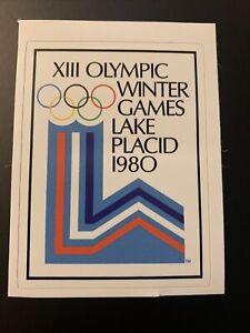 "1980 Winter Olympic Games Lake Placid New York Sticker 2.8"" x 3.7"""
