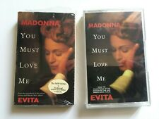 Madonna Cassette tape YOU MUST LOVE ME made in uk and US with sticker
