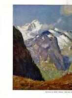 Spätsommer im Wallis XXL Kunstdruck 1919 von Franz Hoch * Freiburg Berge Schweiz