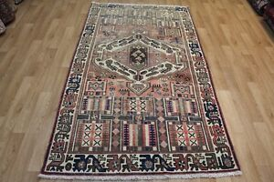 Antique Persian Bakhtiari rug Hand Made wool rug, with nice old colour C1910