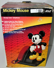 WALT DISNEY MICKEY MOUSE DESIGN LINE AT&T GENTLY USED PHONE W/BOX & INSTRUCTIONS