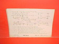 1960 BUICK ELECTRA 225 LESABRE INVICTA CONVERTIBLE COUPE FRAME DIMENSION CHART