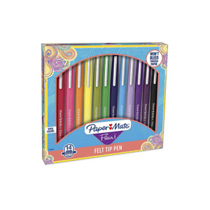 Paper Mate Flair Felt Tip Pens, Medium Point (0.7mm), Assorted Colors, 14 Count