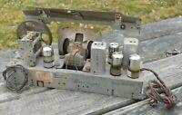 1948 PHILCO Model 48-141 Tube Radio CHASSIS w Orig SPEAKER & 4 Orig TUBES